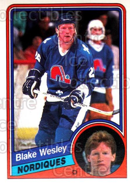 1984-85 O-Pee-Chee #294 Blake Wesley<br/>8 In Stock - $1.00 each - <a href=https://centericecollectibles.foxycart.com/cart?name=1984-85%20O-Pee-Chee%20%23294%20Blake%20Wesley...&quantity_max=8&price=$1.00&code=207453 class=foxycart> Buy it now! </a>