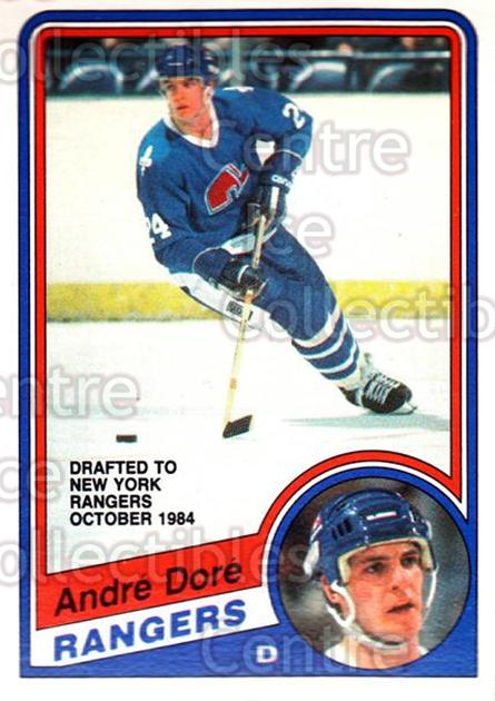 1984-85 O-Pee-Chee #279 Andre Dore<br/>4 In Stock - $1.00 each - <a href=https://centericecollectibles.foxycart.com/cart?name=1984-85%20O-Pee-Chee%20%23279%20Andre%20Dore...&quantity_max=4&price=$1.00&code=207454 class=foxycart> Buy it now! </a>
