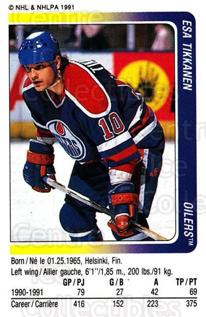 1991-92 Panini Stickers #123 Esa Tikkanen<br/>5 In Stock - $1.00 each - <a href=https://centericecollectibles.foxycart.com/cart?name=1991-92%20Panini%20Stickers%20%23123%20Esa%20Tikkanen...&quantity_max=5&price=$1.00&code=207455 class=foxycart> Buy it now! </a>