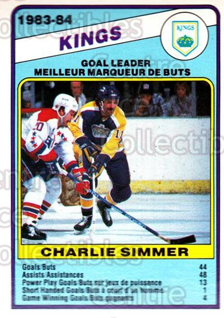 1984-85 O-Pee-Chee #358 Charlie Simmer<br/>10 In Stock - $1.00 each - <a href=https://centericecollectibles.foxycart.com/cart?name=1984-85%20O-Pee-Chee%20%23358%20Charlie%20Simmer...&quantity_max=10&price=$1.00&code=207564 class=foxycart> Buy it now! </a>