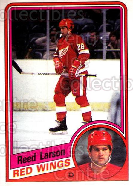 1984-85 O-Pee-Chee #58 Reed Larson<br/>10 In Stock - $1.00 each - <a href=https://centericecollectibles.foxycart.com/cart?name=1984-85%20O-Pee-Chee%20%2358%20Reed%20Larson...&quantity_max=10&price=$1.00&code=207579 class=foxycart> Buy it now! </a>