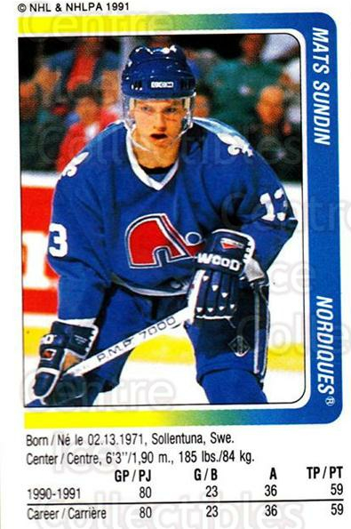 1991-92 Panini Stickers #255 Mats Sundin<br/>7 In Stock - $1.00 each - <a href=https://centericecollectibles.foxycart.com/cart?name=1991-92%20Panini%20Stickers%20%23255%20Mats%20Sundin...&quantity_max=7&price=$1.00&code=207598 class=foxycart> Buy it now! </a>