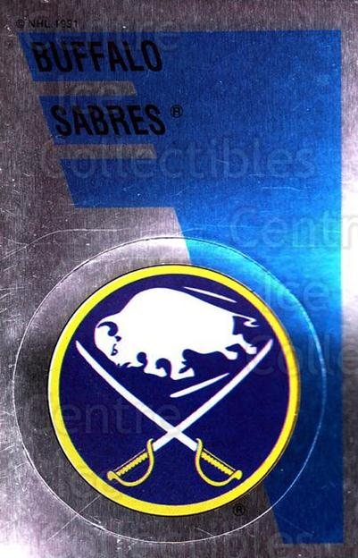 1991-92 Panini Stickers #160 Buffalo Sabres<br/>7 In Stock - $1.00 each - <a href=https://centericecollectibles.foxycart.com/cart?name=1991-92%20Panini%20Stickers%20%23160%20Buffalo%20Sabres...&quantity_max=7&price=$1.00&code=207637 class=foxycart> Buy it now! </a>