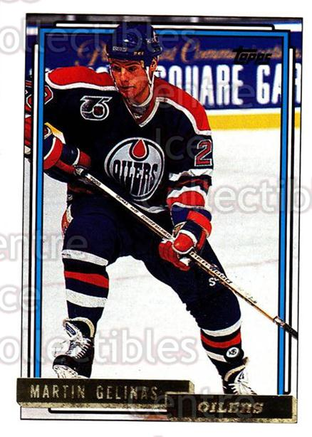 1992-93 Topps Gold #292 Martin Gelinas<br/>6 In Stock - $2.00 each - <a href=https://centericecollectibles.foxycart.com/cart?name=1992-93%20Topps%20Gold%20%23292%20Martin%20Gelinas...&quantity_max=6&price=$2.00&code=207684 class=foxycart> Buy it now! </a>