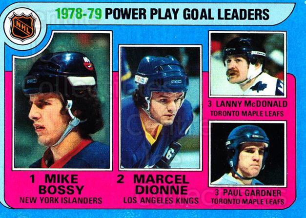 1979-80 Topps #5 Mike Bossy, Marcel Dionne, Paul Gardner<br/>2 In Stock - $3.00 each - <a href=https://centericecollectibles.foxycart.com/cart?name=1979-80%20Topps%20%235%20Mike%20Bossy,%20Mar...&quantity_max=2&price=$3.00&code=207728 class=foxycart> Buy it now! </a>