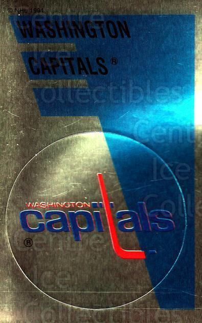 1991-92 Panini Stickers #169 Washington Capitals<br/>7 In Stock - $1.00 each - <a href=https://centericecollectibles.foxycart.com/cart?name=1991-92%20Panini%20Stickers%20%23169%20Washington%20Capi...&quantity_max=7&price=$1.00&code=207751 class=foxycart> Buy it now! </a>