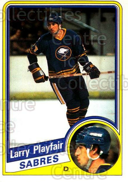 1984-85 O-Pee-Chee #26 Larry Playfair<br/>9 In Stock - $1.00 each - <a href=https://centericecollectibles.foxycart.com/cart?name=1984-85%20O-Pee-Chee%20%2326%20Larry%20Playfair...&quantity_max=9&price=$1.00&code=207816 class=foxycart> Buy it now! </a>