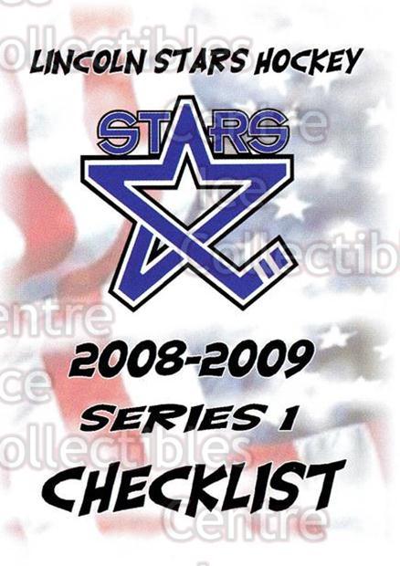 <a href=index.aspx?SetName=2008-09%20Lincoln%20Stars>2008-09 Lincoln Stars</a> #1 <a href=index.aspx?PlayerName=Checklist> Checklist</a><br/>4 in stock - $3.00 each - <a href=https://centericecollectibles.foxycart.com/cart?name=2008-09%20Lincoln%20Stars%20%231%20Checklist...&price=$3.00&code=207833 class=foxycart> Buy it now! </a>