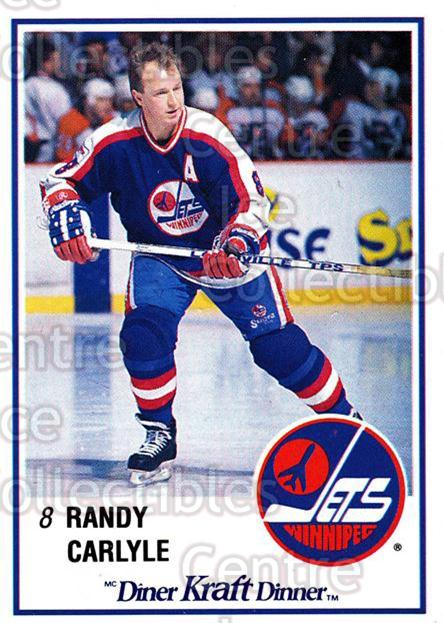 1989-90 Kraft #47 Randy Carlyle<br/>9 In Stock - $2.00 each - <a href=https://centericecollectibles.foxycart.com/cart?name=1989-90%20Kraft%20%2347%20Randy%20Carlyle...&quantity_max=9&price=$2.00&code=20783 class=foxycart> Buy it now! </a>