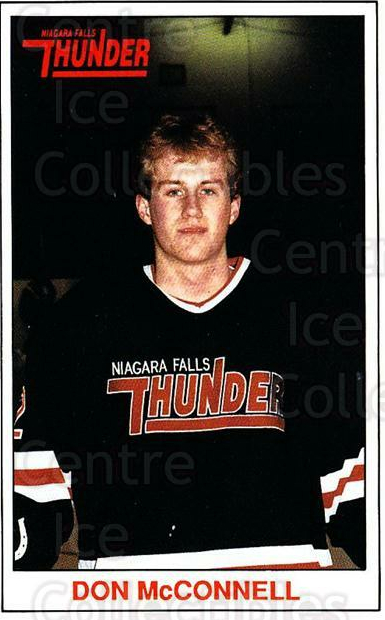 1989-90 Niagara Falls Thunder #12 Don McConnell<br/>7 In Stock - $3.00 each - <a href=https://centericecollectibles.foxycart.com/cart?name=1989-90%20Niagara%20Falls%20Thunder%20%2312%20Don%20McConnell...&quantity_max=7&price=$3.00&code=20804 class=foxycart> Buy it now! </a>