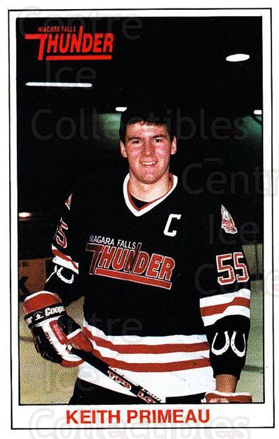 1989-90 Niagara Falls Thunder #15 Keith Primeau<br/>5 In Stock - $5.00 each - <a href=https://centericecollectibles.foxycart.com/cart?name=1989-90%20Niagara%20Falls%20Thunder%20%2315%20Keith%20Primeau...&quantity_max=5&price=$5.00&code=20807 class=foxycart> Buy it now! </a>