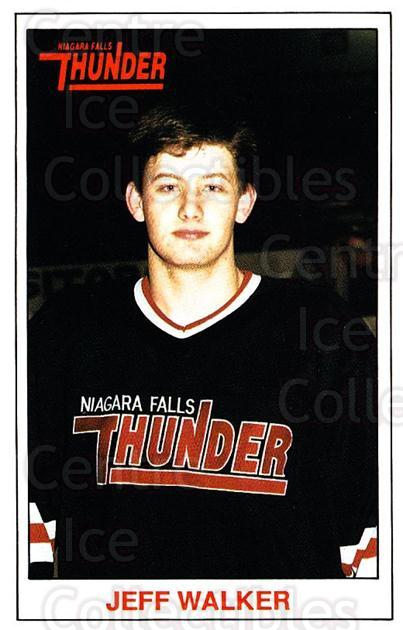 1989-90 Niagara Falls Thunder #21 Jeff Walker<br/>8 In Stock - $3.00 each - <a href=https://centericecollectibles.foxycart.com/cart?name=1989-90%20Niagara%20Falls%20Thunder%20%2321%20Jeff%20Walker...&quantity_max=8&price=$3.00&code=20814 class=foxycart> Buy it now! </a>