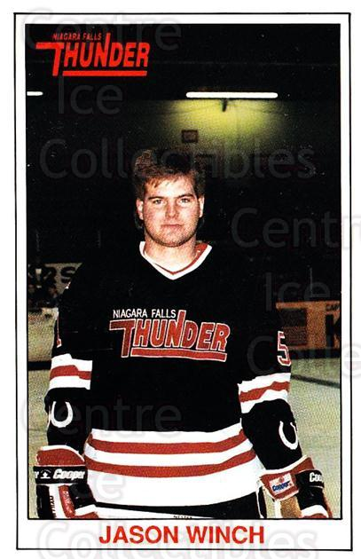 1989-90 Niagara Falls Thunder #22 Jason Winch<br/>6 In Stock - $3.00 each - <a href=https://centericecollectibles.foxycart.com/cart?name=1989-90%20Niagara%20Falls%20Thunder%20%2322%20Jason%20Winch...&quantity_max=6&price=$3.00&code=20815 class=foxycart> Buy it now! </a>