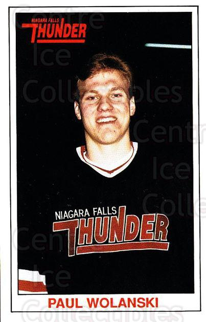 1989-90 Niagara Falls Thunder #23 Paul Wolanski<br/>7 In Stock - $3.00 each - <a href=https://centericecollectibles.foxycart.com/cart?name=1989-90%20Niagara%20Falls%20Thunder%20%2323%20Paul%20Wolanski...&quantity_max=7&price=$3.00&code=20816 class=foxycart> Buy it now! </a>