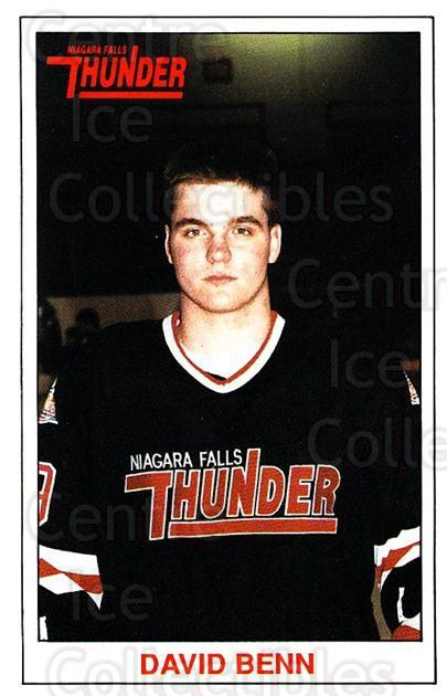1989-90 Niagara Falls Thunder #3 David Benn<br/>5 In Stock - $3.00 each - <a href=https://centericecollectibles.foxycart.com/cart?name=1989-90%20Niagara%20Falls%20Thunder%20%233%20David%20Benn...&quantity_max=5&price=$3.00&code=20818 class=foxycart> Buy it now! </a>
