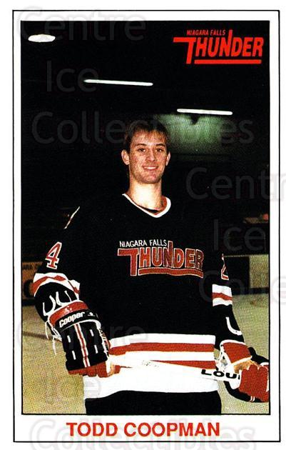 1989-90 Niagara Falls Thunder #6 Todd Coopman<br/>6 In Stock - $3.00 each - <a href=https://centericecollectibles.foxycart.com/cart?name=1989-90%20Niagara%20Falls%20Thunder%20%236%20Todd%20Coopman...&quantity_max=6&price=$3.00&code=20821 class=foxycart> Buy it now! </a>