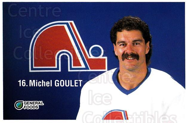 1989-90 Quebec Nordiques General Foods #10 Michel Goulet<br/>1 In Stock - $3.00 each - <a href=https://centericecollectibles.foxycart.com/cart?name=1989-90%20Quebec%20Nordiques%20General%20Foods%20%2310%20Michel%20Goulet...&quantity_max=1&price=$3.00&code=20826 class=foxycart> Buy it now! </a>