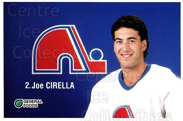 1989-90 Quebec Nordiques General Foods #3 Joe Cirella<br/>1 In Stock - $3.00 each - <a href=https://centericecollectibles.foxycart.com/cart?name=1989-90%20Quebec%20Nordiques%20General%20Foods%20%233%20Joe%20Cirella...&quantity_max=1&price=$3.00&code=20838 class=foxycart> Buy it now! </a>