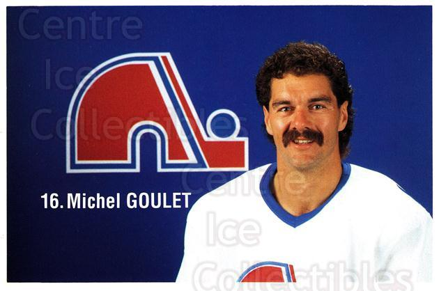 1989-90 Quebec Nordiques Team Issue #13 Michel Goulet<br/>8 In Stock - $3.00 each - <a href=https://centericecollectibles.foxycart.com/cart?name=1989-90%20Quebec%20Nordiques%20Team%20Issue%20%2313%20Michel%20Goulet...&quantity_max=8&price=$3.00&code=20848 class=foxycart> Buy it now! </a>