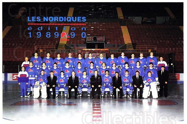 1989-90 Quebec Nordiques Team Issue #39 Quebec Nordiques, Team Photo<br/>1 In Stock - $3.00 each - <a href=https://centericecollectibles.foxycart.com/cart?name=1989-90%20Quebec%20Nordiques%20Team%20Issue%20%2339%20Quebec%20Nordique...&quantity_max=1&price=$3.00&code=20870 class=foxycart> Buy it now! </a>