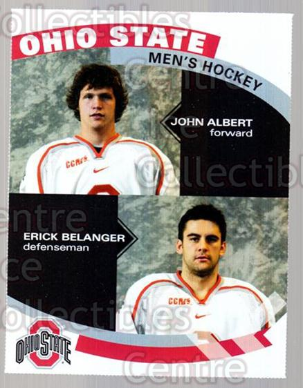 2007-08 Ohio State Buckeyes #15 John Albert, Erick Belanger<br/>7 In Stock - $3.00 each - <a href=https://centericecollectibles.foxycart.com/cart?name=2007-08%20Ohio%20State%20Buckeyes%20%2315%20John%20Albert,%20Er...&quantity_max=7&price=$3.00&code=208729 class=foxycart> Buy it now! </a>