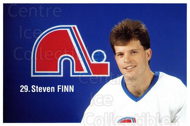 1989-90 Quebec Nordiques Team Issue #8 Steven Finn<br/>5 In Stock - $3.00 each - <a href=https://centericecollectibles.foxycart.com/cart?name=1989-90%20Quebec%20Nordiques%20Team%20Issue%20%238%20Steven%20Finn...&quantity_max=5&price=$3.00&code=20874 class=foxycart> Buy it now! </a>