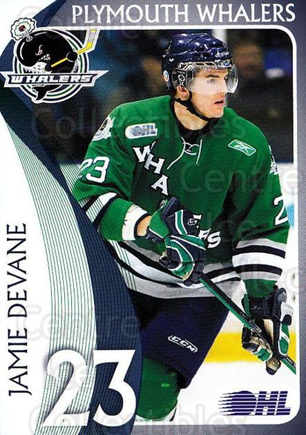 2008-09 Plymouth Whalers #25 Jamie Devane<br/>2 In Stock - $3.00 each - <a href=https://centericecollectibles.foxycart.com/cart?name=2008-09%20Plymouth%20Whalers%20%2325%20Jamie%20Devane...&quantity_max=2&price=$3.00&code=208759 class=foxycart> Buy it now! </a>