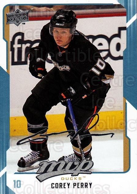 2008-09 Upper Deck MVP #2 Corey Perry<br/>5 In Stock - $1.00 each - <a href=https://centericecollectibles.foxycart.com/cart?name=2008-09%20Upper%20Deck%20MVP%20%232%20Corey%20Perry...&quantity_max=5&price=$1.00&code=208818 class=foxycart> Buy it now! </a>