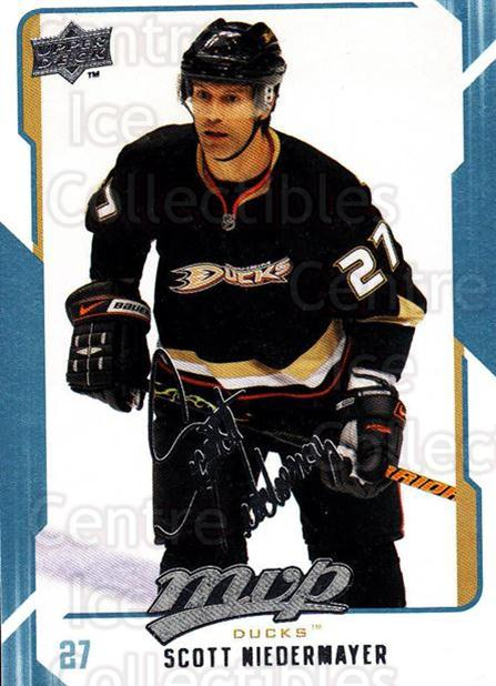 2008-09 Upper Deck MVP #8 Scott Niedermayer<br/>5 In Stock - $1.00 each - <a href=https://centericecollectibles.foxycart.com/cart?name=2008-09%20Upper%20Deck%20MVP%20%238%20Scott%20Niedermay...&quantity_max=5&price=$1.00&code=208824 class=foxycart> Buy it now! </a>