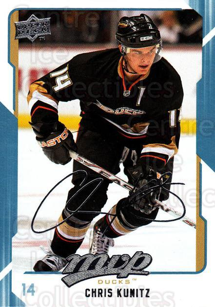2008-09 Upper Deck MVP #9 Chris Kunitz<br/>5 In Stock - $1.00 each - <a href=https://centericecollectibles.foxycart.com/cart?name=2008-09%20Upper%20Deck%20MVP%20%239%20Chris%20Kunitz...&quantity_max=5&price=$1.00&code=208825 class=foxycart> Buy it now! </a>