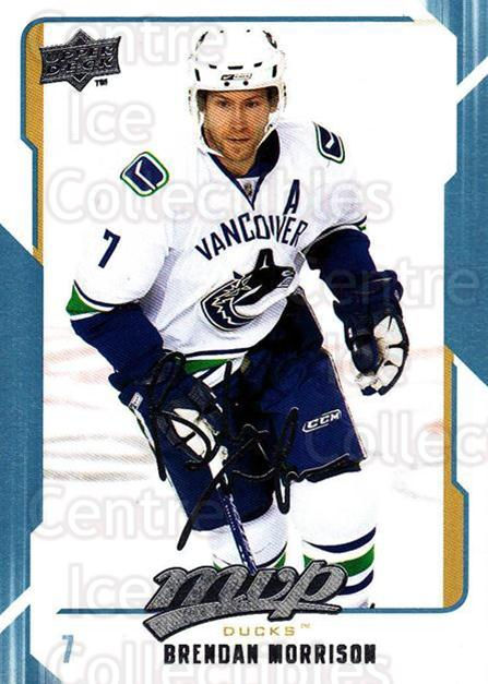 2008-09 Upper Deck MVP #10 Brendan Morrison<br/>5 In Stock - $1.00 each - <a href=https://centericecollectibles.foxycart.com/cart?name=2008-09%20Upper%20Deck%20MVP%20%2310%20Brendan%20Morriso...&quantity_max=5&price=$1.00&code=208826 class=foxycart> Buy it now! </a>