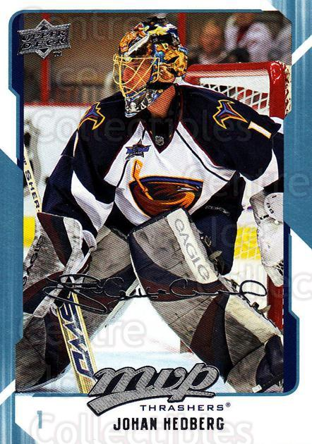 2008-09 Upper Deck MVP #19 Johan Hedberg<br/>5 In Stock - $1.00 each - <a href=https://centericecollectibles.foxycart.com/cart?name=2008-09%20Upper%20Deck%20MVP%20%2319%20Johan%20Hedberg...&quantity_max=5&price=$1.00&code=208835 class=foxycart> Buy it now! </a>