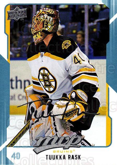 2008-09 Upper Deck MVP #29 Tuukka Rask<br/>1 In Stock - $2.00 each - <a href=https://centericecollectibles.foxycart.com/cart?name=2008-09%20Upper%20Deck%20MVP%20%2329%20Tuukka%20Rask...&quantity_max=1&price=$2.00&code=208845 class=foxycart> Buy it now! </a>