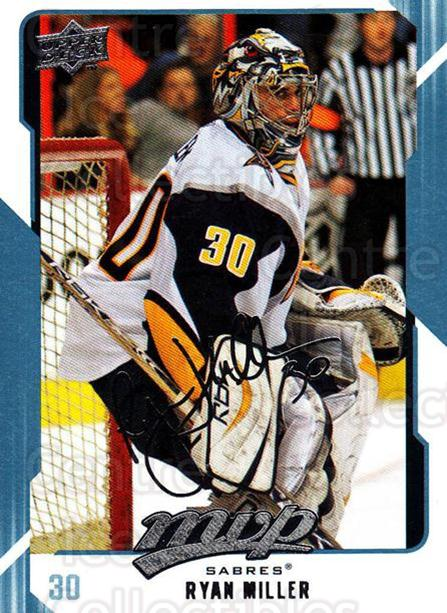 2008-09 Upper Deck MVP #36 Ryan Miller<br/>5 In Stock - $1.00 each - <a href=https://centericecollectibles.foxycart.com/cart?name=2008-09%20Upper%20Deck%20MVP%20%2336%20Ryan%20Miller...&quantity_max=5&price=$1.00&code=208852 class=foxycart> Buy it now! </a>