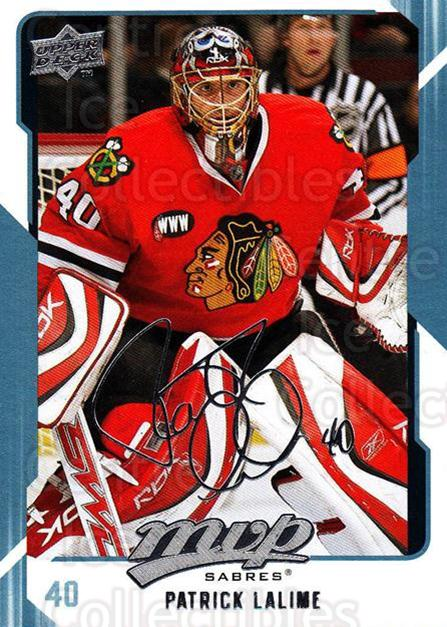 2008-09 Upper Deck MVP #41 Patrick Lalime<br/>4 In Stock - $1.00 each - <a href=https://centericecollectibles.foxycart.com/cart?name=2008-09%20Upper%20Deck%20MVP%20%2341%20Patrick%20Lalime...&quantity_max=4&price=$1.00&code=208857 class=foxycart> Buy it now! </a>