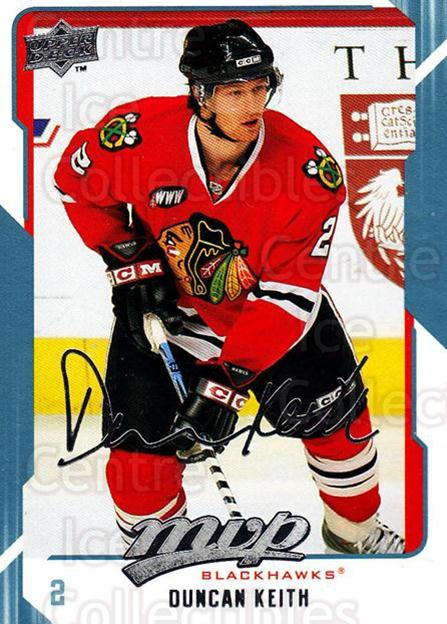 2008-09 Upper Deck MVP #66 Duncan Keith<br/>5 In Stock - $2.00 each - <a href=https://centericecollectibles.foxycart.com/cart?name=2008-09%20Upper%20Deck%20MVP%20%2366%20Duncan%20Keith...&quantity_max=5&price=$2.00&code=208882 class=foxycart> Buy it now! </a>
