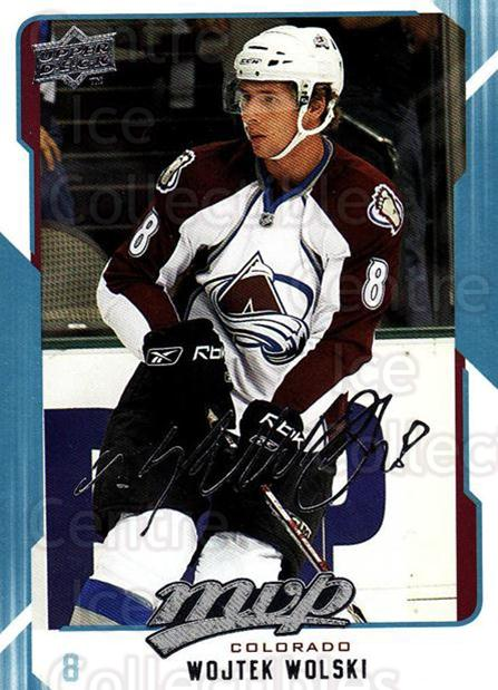 2008-09 Upper Deck MVP #75 Wojtek Wolski<br/>6 In Stock - $1.00 each - <a href=https://centericecollectibles.foxycart.com/cart?name=2008-09%20Upper%20Deck%20MVP%20%2375%20Wojtek%20Wolski...&quantity_max=6&price=$1.00&code=208891 class=foxycart> Buy it now! </a>