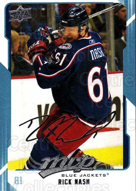 2008-09 Upper Deck MVP #83 Rick Nash<br/>5 In Stock - $1.00 each - <a href=https://centericecollectibles.foxycart.com/cart?name=2008-09%20Upper%20Deck%20MVP%20%2383%20Rick%20Nash...&quantity_max=5&price=$1.00&code=208899 class=foxycart> Buy it now! </a>