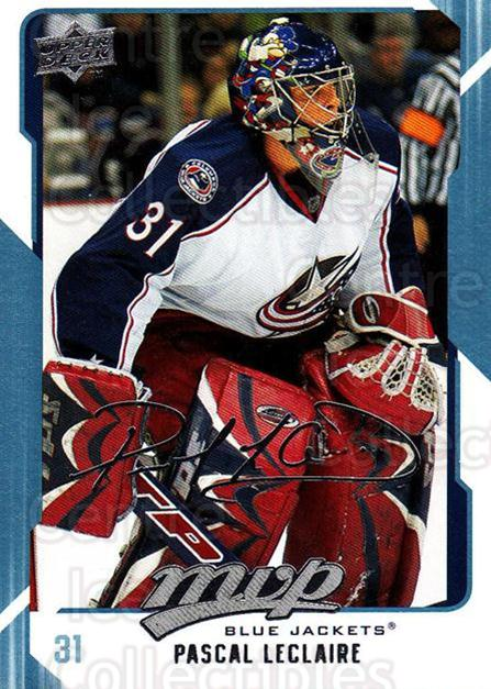 2008-09 Upper Deck MVP #85 Pascal Leclaire<br/>5 In Stock - $1.00 each - <a href=https://centericecollectibles.foxycart.com/cart?name=2008-09%20Upper%20Deck%20MVP%20%2385%20Pascal%20Leclaire...&quantity_max=5&price=$1.00&code=208901 class=foxycart> Buy it now! </a>