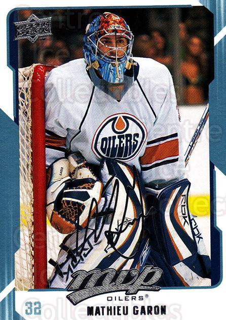 2008-09 Upper Deck MVP #123 Mathieu Garon<br/>6 In Stock - $1.00 each - <a href=https://centericecollectibles.foxycart.com/cart?name=2008-09%20Upper%20Deck%20MVP%20%23123%20Mathieu%20Garon...&quantity_max=6&price=$1.00&code=208939 class=foxycart> Buy it now! </a>