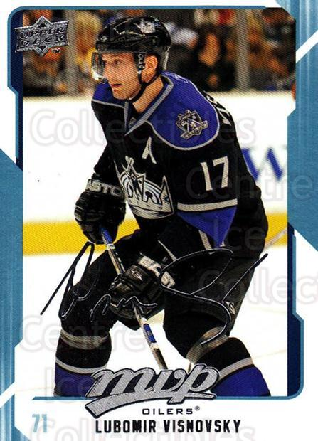 2008-09 Upper Deck MVP #125 Lubomir Visnovsky<br/>5 In Stock - $1.00 each - <a href=https://centericecollectibles.foxycart.com/cart?name=2008-09%20Upper%20Deck%20MVP%20%23125%20Lubomir%20Visnovs...&quantity_max=5&price=$1.00&code=208941 class=foxycart> Buy it now! </a>
