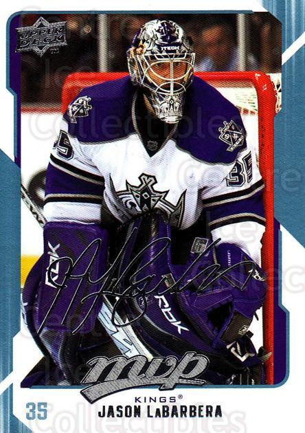 2008-09 Upper Deck MVP #139 Jason LaBarbera<br/>6 In Stock - $1.00 each - <a href=https://centericecollectibles.foxycart.com/cart?name=2008-09%20Upper%20Deck%20MVP%20%23139%20Jason%20LaBarbera...&quantity_max=6&price=$1.00&code=208955 class=foxycart> Buy it now! </a>