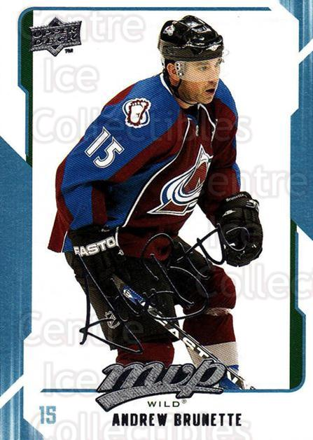 2008-09 Upper Deck MVP #141 Andrew Brunette<br/>6 In Stock - $1.00 each - <a href=https://centericecollectibles.foxycart.com/cart?name=2008-09%20Upper%20Deck%20MVP%20%23141%20Andrew%20Brunette...&quantity_max=6&price=$1.00&code=208957 class=foxycart> Buy it now! </a>