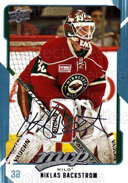 2008-09 Upper Deck MVP #147 Niklas Backstrom<br/>6 In Stock - $1.00 each - <a href=https://centericecollectibles.foxycart.com/cart?name=2008-09%20Upper%20Deck%20MVP%20%23147%20Niklas%20Backstro...&quantity_max=6&price=$1.00&code=208963 class=foxycart> Buy it now! </a>