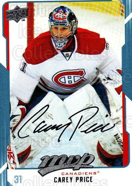 2008-09 Upper Deck MVP #159 Carey Price<br/>1 In Stock - $2.00 each - <a href=https://centericecollectibles.foxycart.com/cart?name=2008-09%20Upper%20Deck%20MVP%20%23159%20Carey%20Price...&price=$2.00&code=208975 class=foxycart> Buy it now! </a>