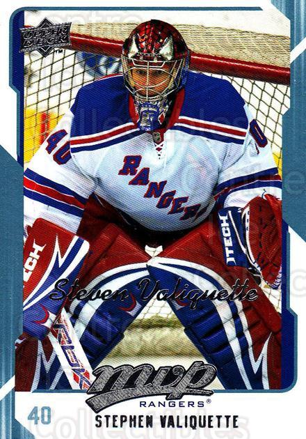 2008-09 Upper Deck MVP #198 Steve Valiquette<br/>6 In Stock - $1.00 each - <a href=https://centericecollectibles.foxycart.com/cart?name=2008-09%20Upper%20Deck%20MVP%20%23198%20Steve%20Valiquett...&quantity_max=6&price=$1.00&code=209014 class=foxycart> Buy it now! </a>