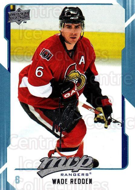2008-09 Upper Deck MVP #200 Wade Redden<br/>6 In Stock - $1.00 each - <a href=https://centericecollectibles.foxycart.com/cart?name=2008-09%20Upper%20Deck%20MVP%20%23200%20Wade%20Redden...&quantity_max=6&price=$1.00&code=209016 class=foxycart> Buy it now! </a>