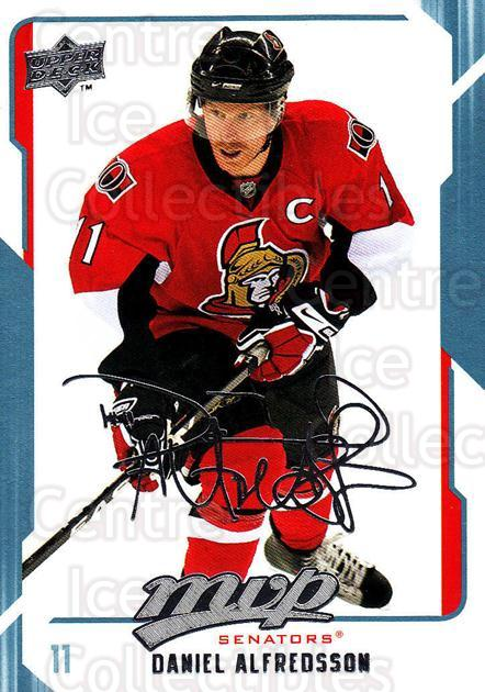 2008-09 Upper Deck MVP #203 Daniel Alfredsson<br/>5 In Stock - $1.00 each - <a href=https://centericecollectibles.foxycart.com/cart?name=2008-09%20Upper%20Deck%20MVP%20%23203%20Daniel%20Alfredss...&quantity_max=5&price=$1.00&code=209019 class=foxycart> Buy it now! </a>