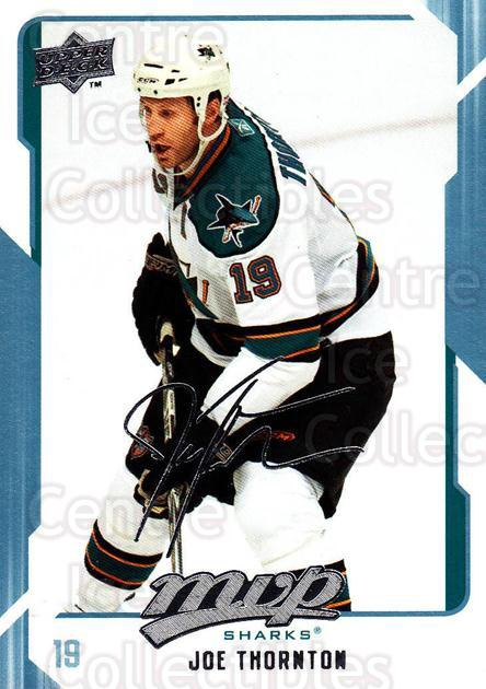 2008-09 Upper Deck MVP #241 Joe Thornton<br/>6 In Stock - $1.00 each - <a href=https://centericecollectibles.foxycart.com/cart?name=2008-09%20Upper%20Deck%20MVP%20%23241%20Joe%20Thornton...&quantity_max=6&price=$1.00&code=209057 class=foxycart> Buy it now! </a>