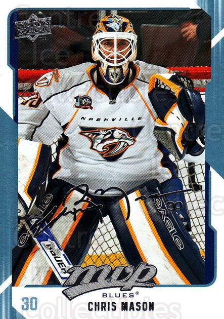 2008-09 Upper Deck MVP #250 Chris Mason<br/>5 In Stock - $1.00 each - <a href=https://centericecollectibles.foxycart.com/cart?name=2008-09%20Upper%20Deck%20MVP%20%23250%20Chris%20Mason...&quantity_max=5&price=$1.00&code=209066 class=foxycart> Buy it now! </a>